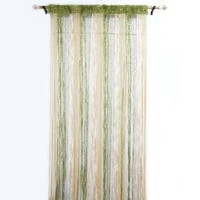 Decorative Door Window Valance Curtain Room Divider Green Drape Fringed Wall Hanging India