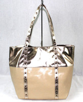 Japanese wholesale silver PU leather bags guangzhou design handbags , shining tote bag for woman