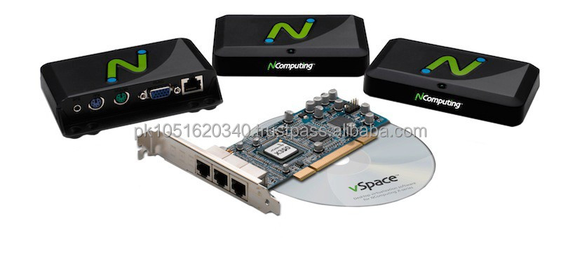 Ncomputing x350 3 users desktop virtualization kit available at best price