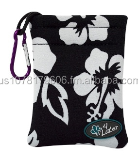 4 LATER SMALL NEOPRENE BAG - ISLAND PRINTS - Black, Blue, Red, Green