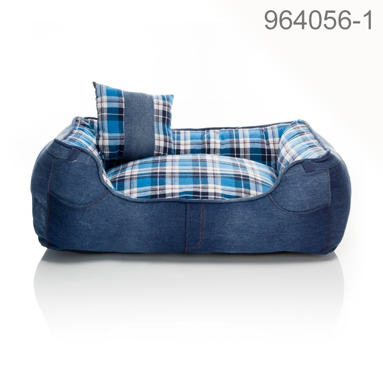 High quality and washable cool fashion jean grid series for dog of Rosey Form