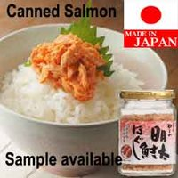 Tasty fish salmon canned salmon flavored spicy cod roe made in Japan
