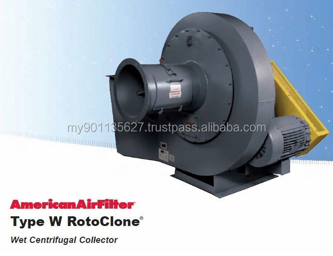 Type W Rotoclone Wet Scrubber