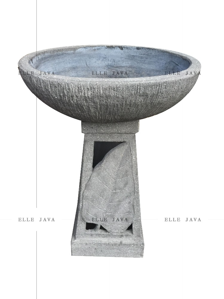 Stone Carving Bird Bath Garden Decoration