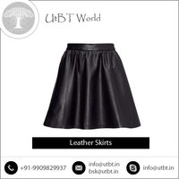 Leading Distributor Selling Elegant Look Leather Skirts with Latest Pattern for Girls