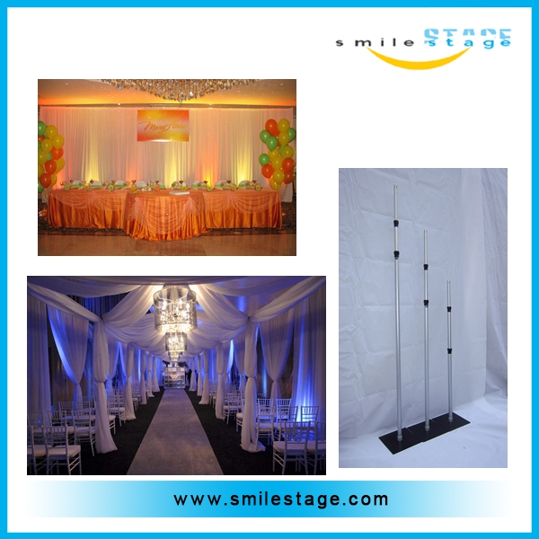 wholesale aluminum pipe and drape cheap price backdrop stand wedding decoration drape pipe
