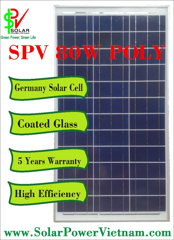 Vietnam Wholesale 80w cheap polycrystalline solar panel