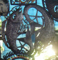 Two Fishes Metal Decor Metal Wall Sculptures
