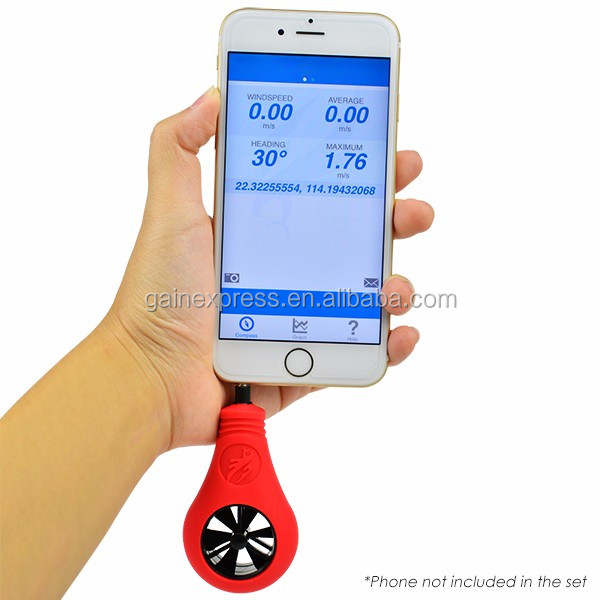 WeatherFlow iPhone Apple iOS Smartphone Weather Wind Air Speed Meter Phone Anemometer Compact Size