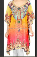 The Beach Company Floral Print Polyester Women's Kaftan./Fancy in market Very Popular Caftan in wholesale rate.