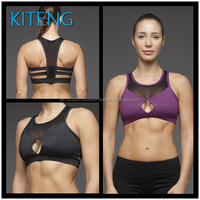 Women Wholesale Sports Bra with mesh and sexy hole in the front Yoga Fitness Sports Bra Office In Unite State (USA)