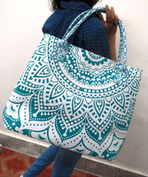 Indian Cotton Mandala Bag Women Handbag Tote Bag Shopping Purse from India