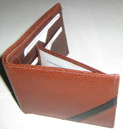 100 genuine leather bi fold and tri fold wallets