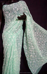 Handembroidered Chikankari Embroidery from Lucknow Sarees