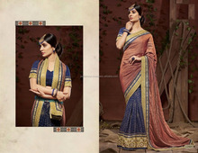 Color Combination South Indian Cotton Silk Saree / South Indian Color Combination Cotton Silk Saree
