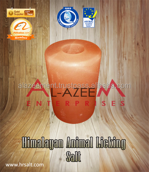 Finest Himalayan Cylinder desgin Animal Licking Salt Stone