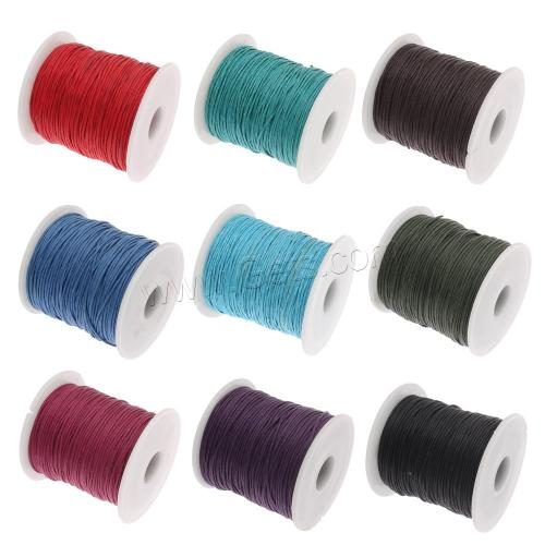 Waxed Cotton Cord with plastic spool reel bobbin wire spool mixed colors 1mm reel bobbin wire spool