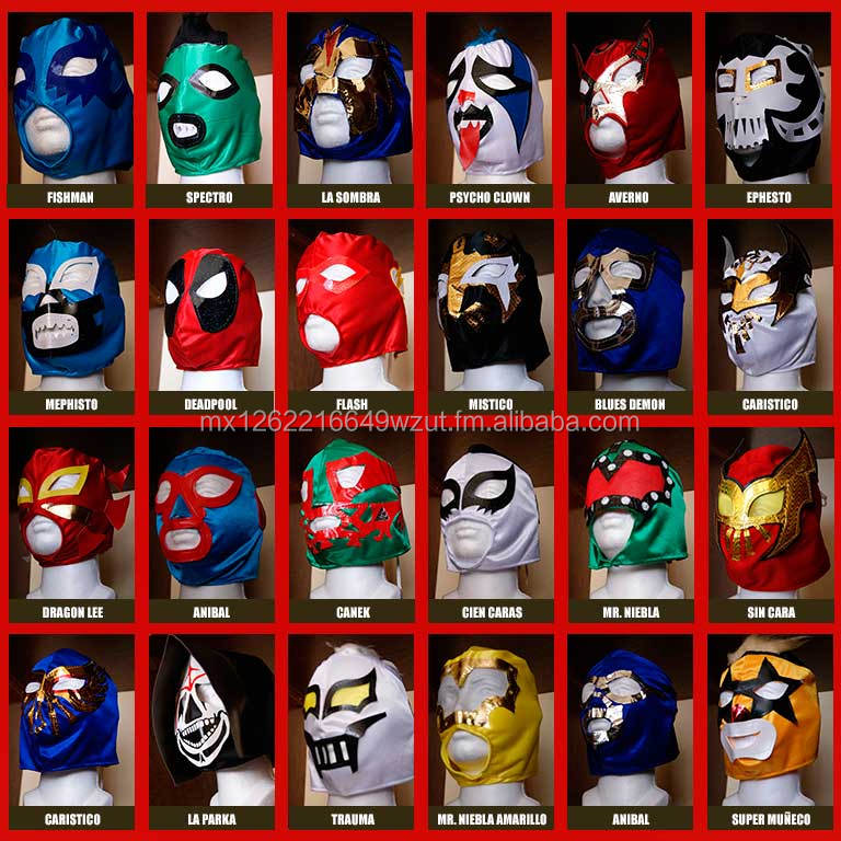 Mask of Wrestling Mexico. Kids / Youth. Ideal for Kids Parties, Sporting Events or Costume Parties. Various models of masks!