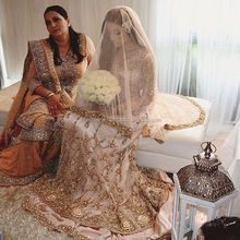Zardosi Work Pakistani Designer Bridal Wedding Lehenga Suit 2016