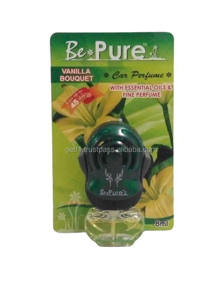 (BePure)Vanilla Bouquet Aroma- 8ml Car Perfume, Car Hanging Air Freshener, Car Accessory, Car Care Products, Alibaba Malaysia