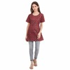 Lilashah Exports Present Look Trendy Stylish Printed Women's Maroon Color Cotton Dress supplier Wholesale vestido abito robe
