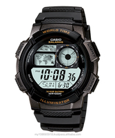 Casio AE-1000W Series Multi Time Aircraft Cockpit LED Resin Watch