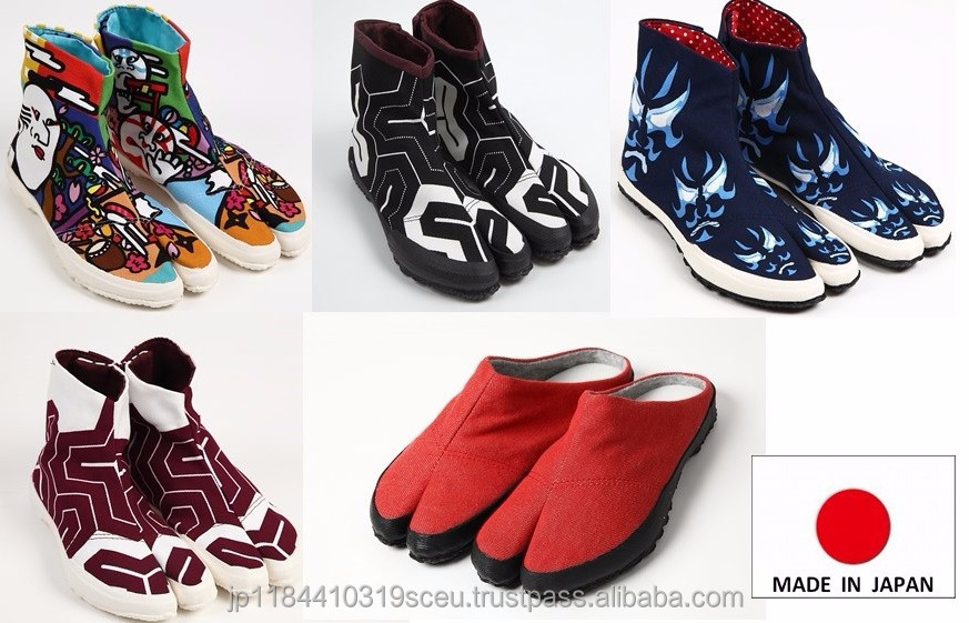 Durable and Easy to wear made in Japan shoes tabi shoes for unisex use , multi colors