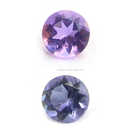 Natural Color Change Synthetic Alexite Autumn Color 8mm Round Cut 1.7 Cts Man Made Gemstone IG4425
