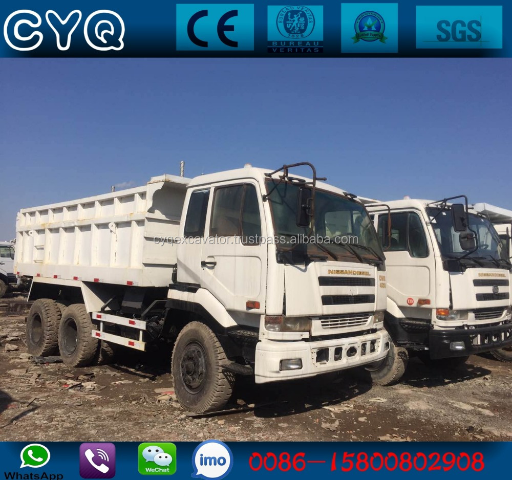 Used Nissan Diesel Dump Truck CWB459 nissan 6*4 tipper trucks CWB 459 for sale (whatsapp:0086-15800802908)