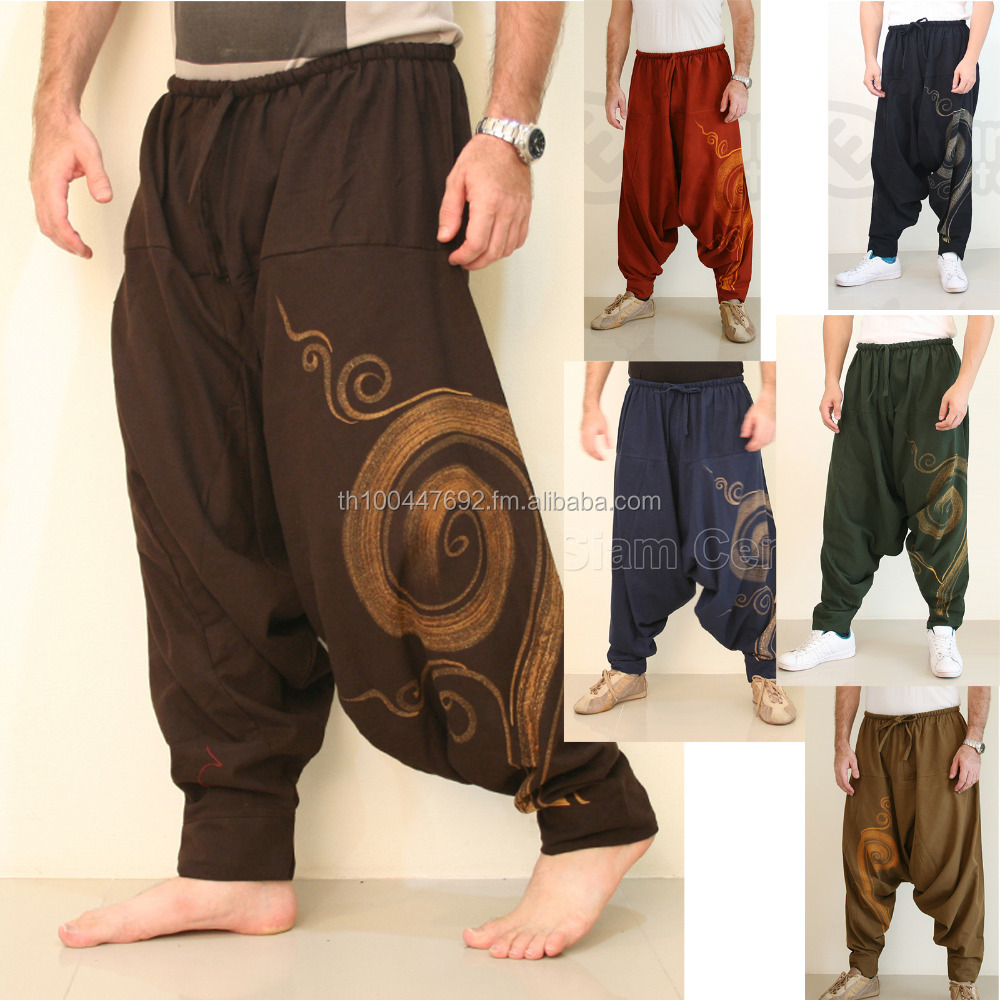 Oriental Harem Cotton Gypsy Yoga Belly Dance Art Fisherman Tribal Alladin Trousers pants