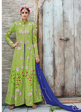 Beautiful pakistani long designer dress crepe wholesale price latest design - Salwar kameez designs for stitching