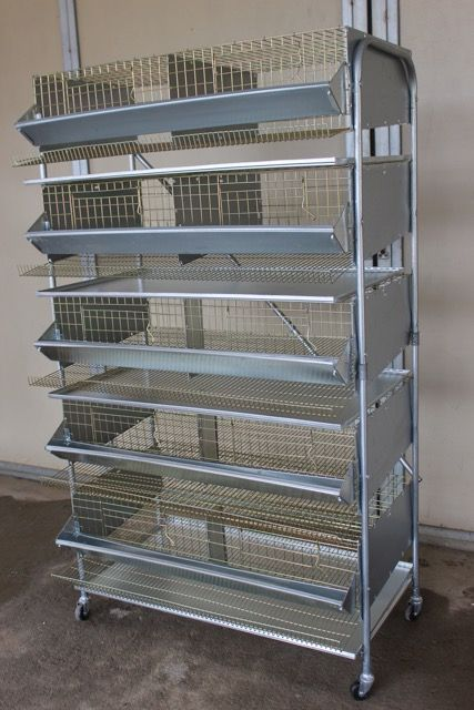 set cellular cages for egg laying hens