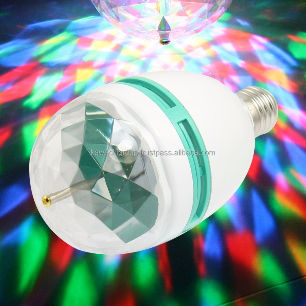 RGB Crystal Ball Led Bulb Party Light Disco Effect Full Color Rotating Bulb & Stage Lighting