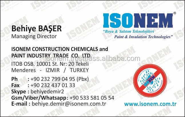 ISONEM LIQUID MEMBRANE ROOF INSULATION MATERIAL, WATER BASED, HIGHLY FLEXIBLE, %100 WATERPROOF