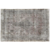 Persian hand knotted overdyed rug, hand woven oriental gray carpet for modern & calssic decoration, vintage persian rugs