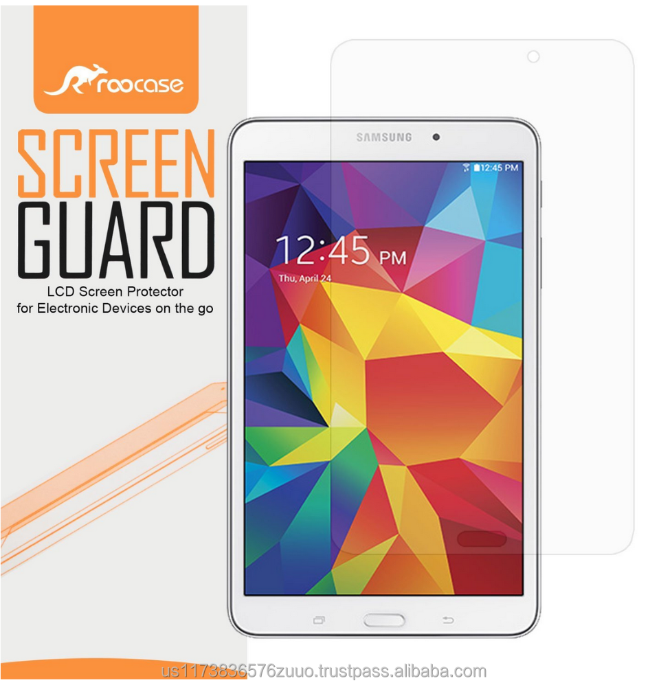 Ultra HD Plus Grade A Japanese multi-layer film with 99.8% transparency screen protector for Galaxy Tab 4 8.0 SM-T330 roocase