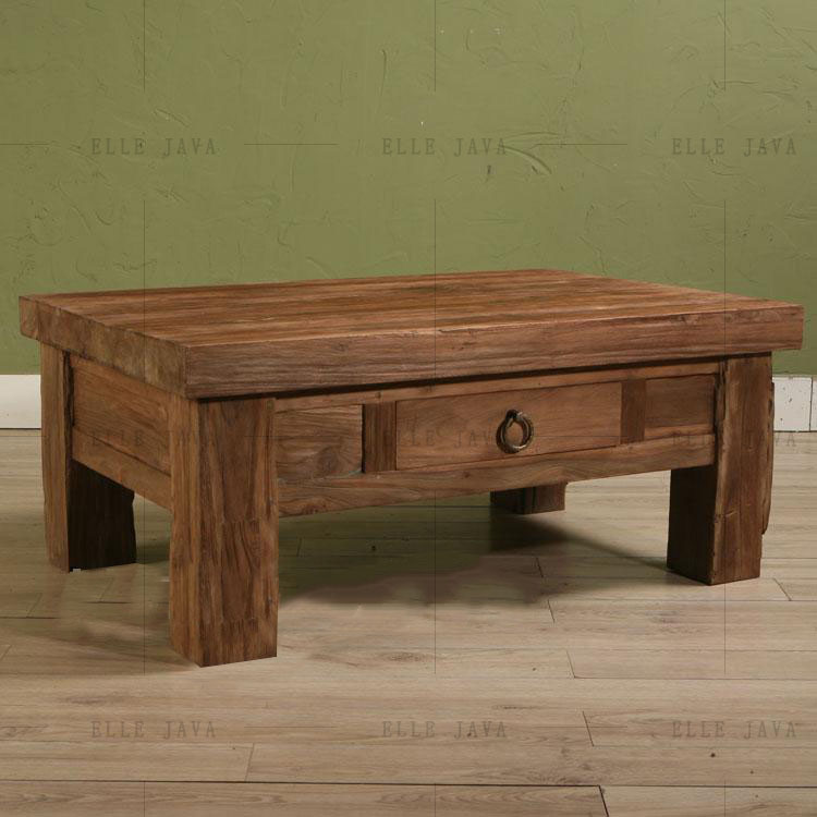 Old Teak Wood Coffe Table