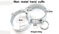 Male Hand Cuffs with Brass Lock sex furniture algema adult games styling tools slave stainless/Sex Toys Female Adult Product