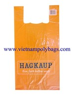 Vietnam 27%Caco3 Shopping t-shirt , singlet plastic bags with high quality