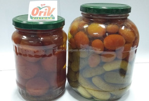 Pickled vegetable made in Vietnam: mix baby cucumber and cherry tomato