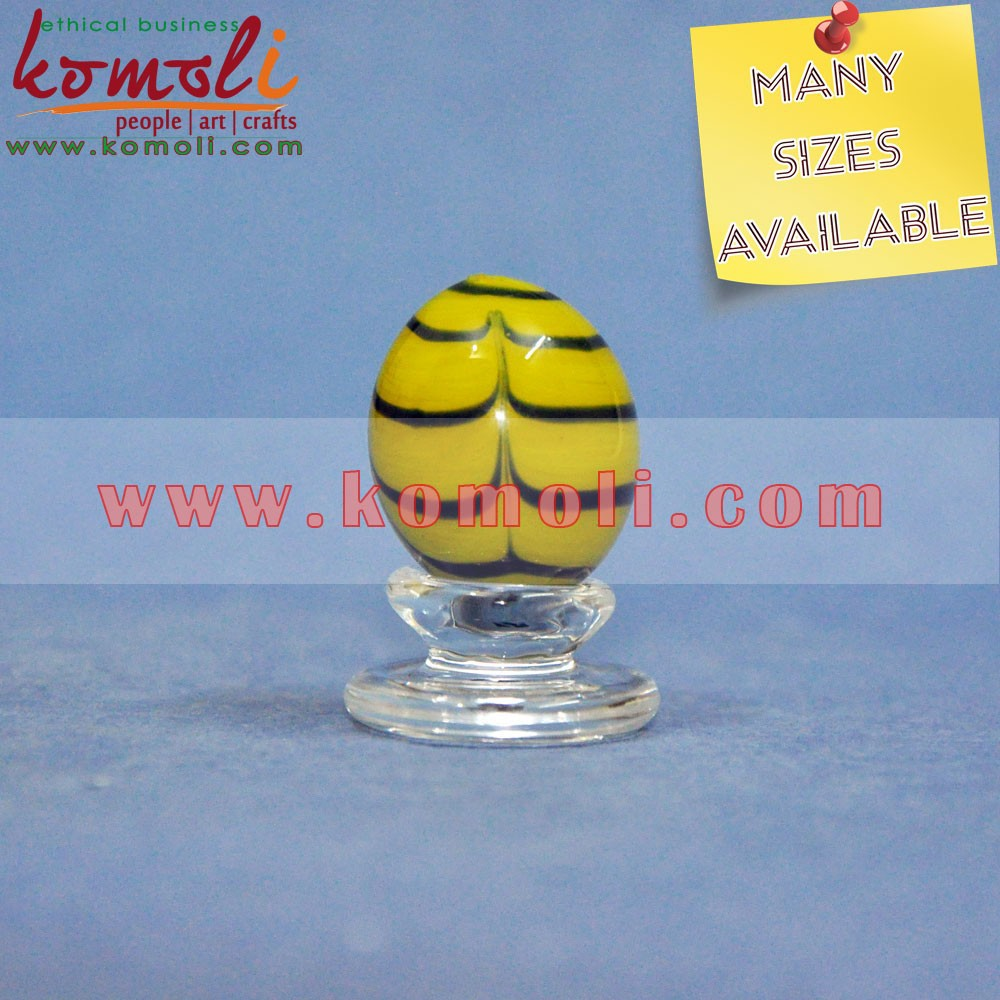 2017 decorative glass eggs marbles for Easter decoration sale