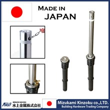 retractable stainless steel bollard with plastic sleeve made in Japan