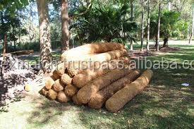 Coir logs with tightly stuffed coir fiber