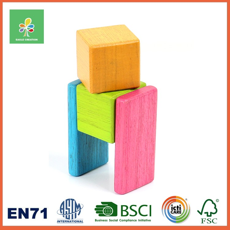 Magnetic Wooden Blocks with Invisible Magnets