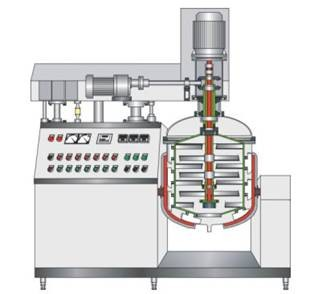 Skillful Manufacture Cosmetic Lab Vacuum Homogenizing Emulsifier Mixer