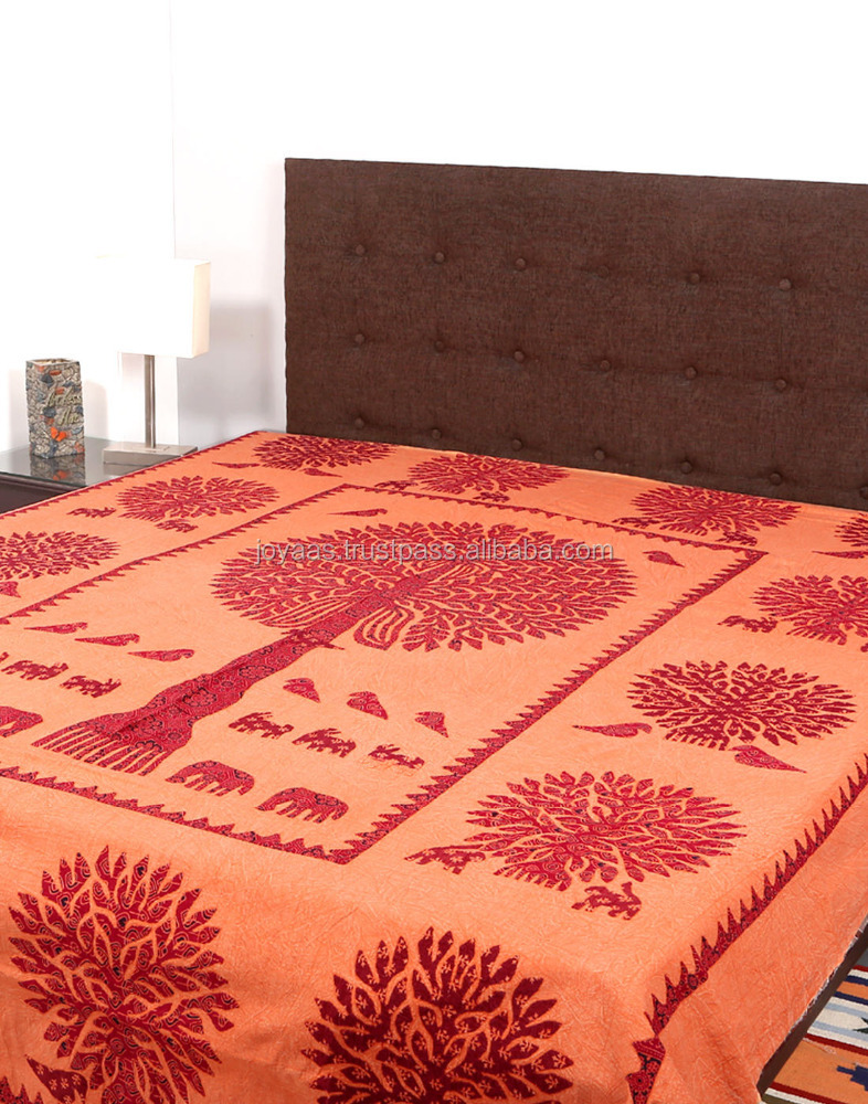 Patchwork Bed Sheet Designs Life Of Tree Wholesale Indian Bed Sheet 100% Cotton Fabric