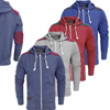 Dark Red Custom Zipper Fleece Hoodies Hoody Jackets with Shoulder Patches
