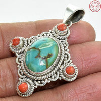 Impressive 925 Sterling Silver Turquoise Amp