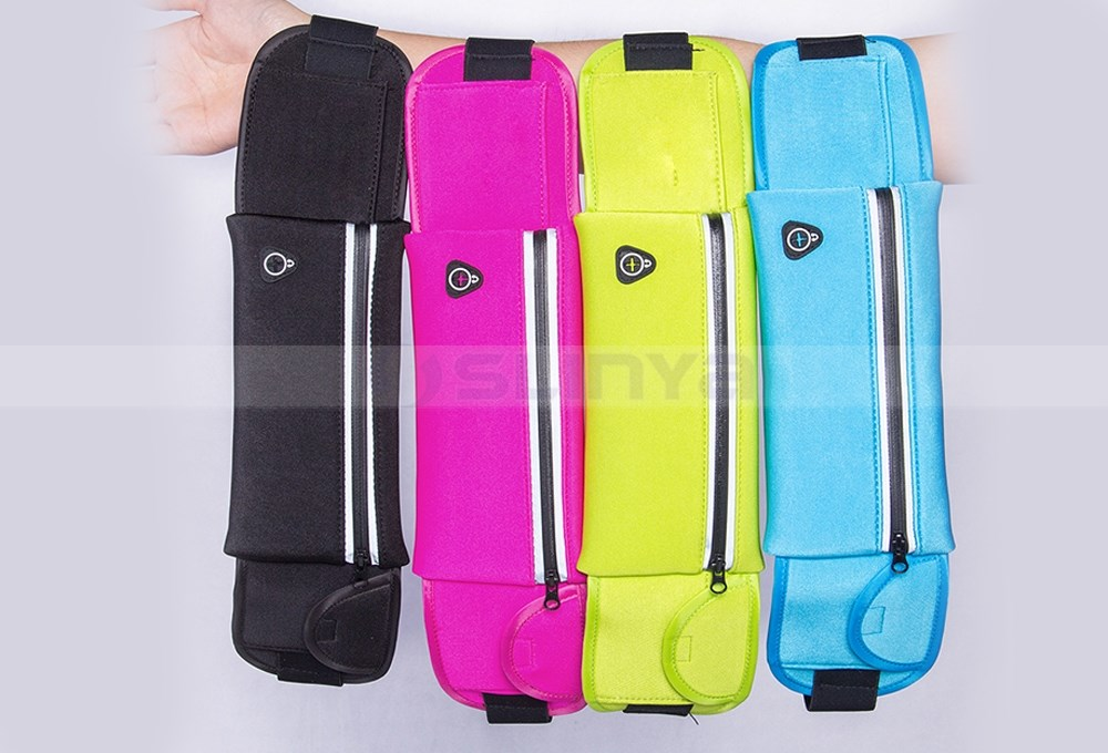 Invisible Waterproof Fanny Pack Sports Running Waist Money Belt Bag Polyester Mesh Security Cycling Waist Bag