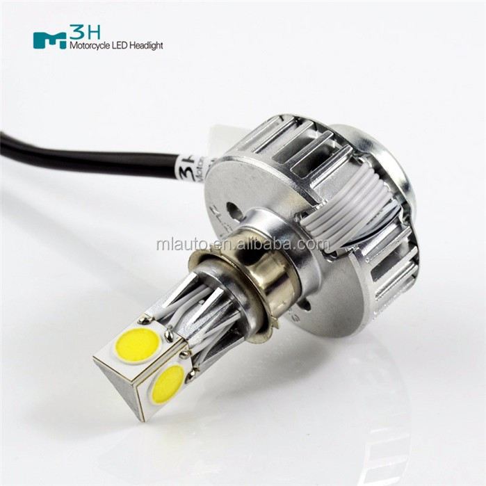 Motor spare parts high power light M3H hi/lo beam 24W 2500lm led motorcycle headlight